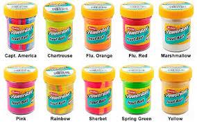 pasta de todos los colores para trucha
